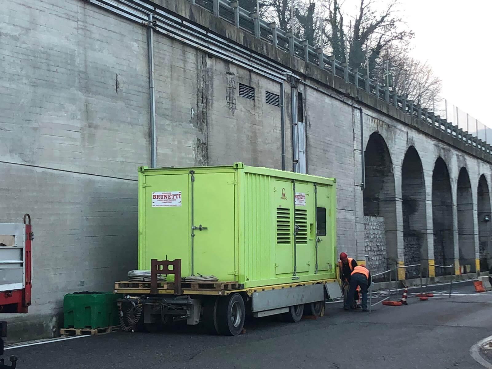 Noleggio generatori di corrente supersilenziati alla Dogana di Chiasso